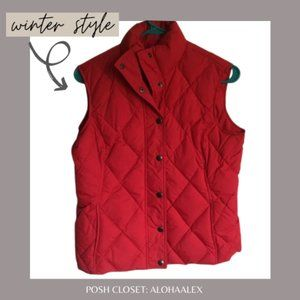 Jackets & Blazers - LAND'S END RED PUFFER VEST. WINTER + FALL …